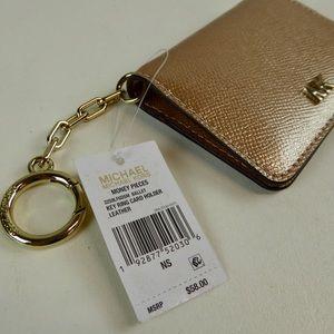 Michael Kors Money Pieces Metallic Leather Wallet